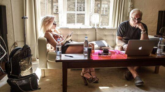 Amerikanske Bonnie McKee og svenske Jörgen Elofsson tilhører til i den absolutte sangskriver-top og rejser kloden rundt for at skrive hits. I denne uge var de i København for at deltage i danske Tigersprings sangskriver-camp på Islands Brygge. Foto: Niels Ahlmann Olesen