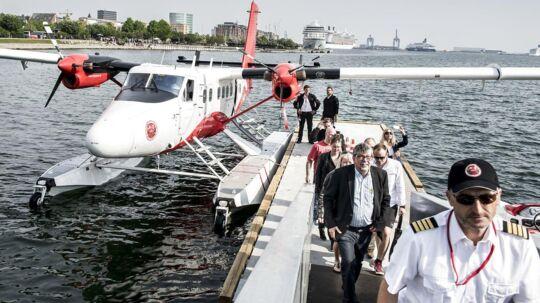 Danmark har fået en vandflyrute mellem Aarhus og København. 45 minutter hver vej.. (Foto: Asger Ladefoged/Scanpix 2016)