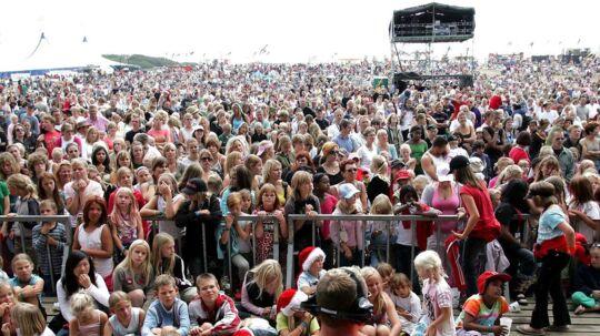 Arkivbillede af Langelandsfestivalen, der som flere andre festivaler i Europa har oplevet problemer med blufærdighedskrænkelser i år.