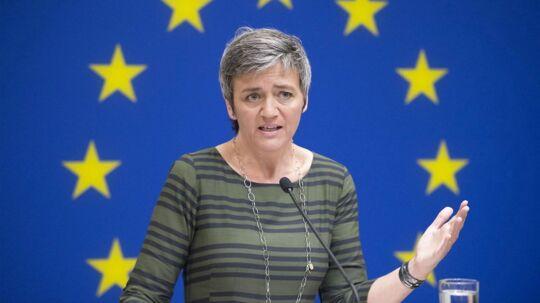 Margrethe Vestager er som EUs konkurrencekommissær bekymret over, om IT-giganterne spænder ben for innovationen. Arkivfoto: Michael Reynolds, EPA/Scanpix