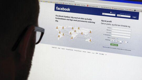 Hvor det i 2013 var hver fjerde virksomhed, der brugte Facebook til at finde oplysninger om en potentiel ny medarbejder, er det nu knapt halvdelen, viser en undersøgelse foretaget af Konsulenthuset Ballisager.(Arkivfoto)