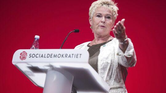 Socialdemokratiets kongres i Aalborg Kongres og Kulturcenter. LO formand Lizette Risgaard talte lørdag formiddag til kongressen.