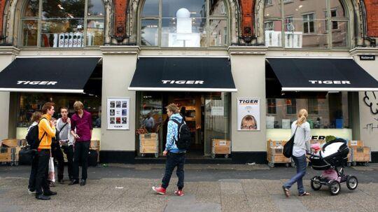 Tiger butik på Kultorvet. Arkivfoto.