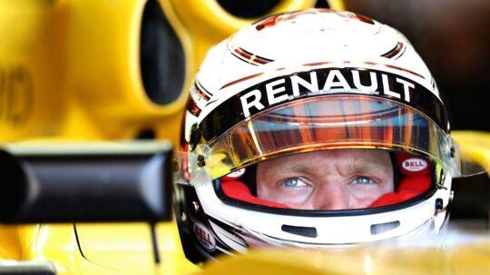 Kevin Magnussen i Renault-raceren.