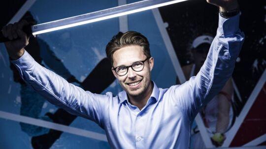 Tobias Thaastrup-Leth har spillet 50.000 kroner på aktier og vundet den store gevinst. Foto: Mikkel Berg Pedersen