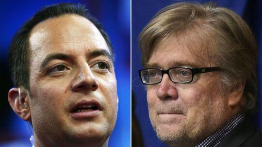 Trump udnævner Reice Priebus som ny stabschef og Steve Bannon som chefstrateg