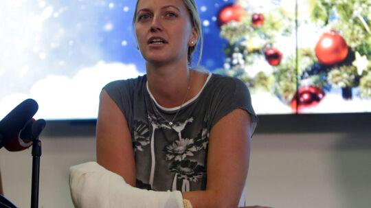 Petra Kvitovas venstre hånd fik omfattende skader af det uopklarede knivoverfald. Arkivfoto.