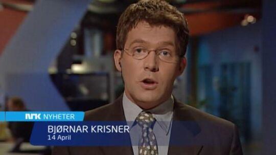 Bjørnar Krisner som ung, håbefuld journalist hos NRK.