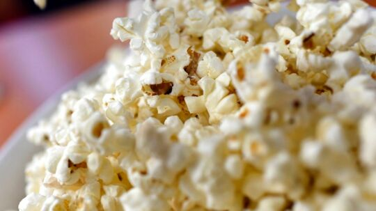 A picture taken on February 10, 2015 in Paris shows a bowl of popcorn. To most people, it may be just a fun food to munch while watching a movie. But to a couple of French investigators, popcorn is a biomechanical enigma waiting to be explained. In an unusual study published on February 11, engineers Emmanuel Virot and Alexandre Ponomarenko carried out experiments into what makes popcorn, well, pop. Cameras recording at 2, 900 frames per second helped show what happened when a kernel of corn strutted its stuff. AFP PHOTO / LOIC VENANCE