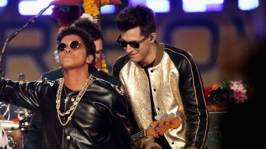 Bruno Mars og Mark Ronson er involveret i endnu en plagiat-sag. Scanpix/Christopher Polk