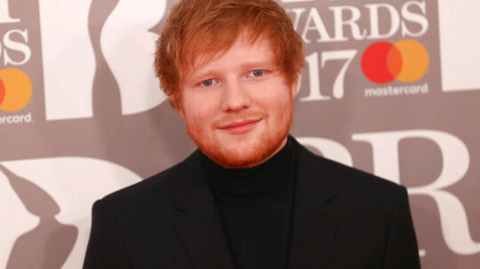 Ed Sheeran arrives for the Brit Awards at the O2 Arena in London, Britain, February 22, 2017. REUTERS/Neil Hall EDITORIAL USE ONLY. FOR EDITORIAL USE ONLY. NOT FOR SALE FOR MARKETING OR ADVERTISING CAMPAIGNS