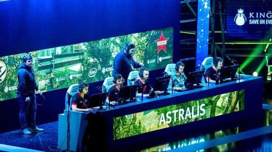 Danske Astralis under finalen i ntel Extreme Masters (IEM) Expo i Katowice, Polen.