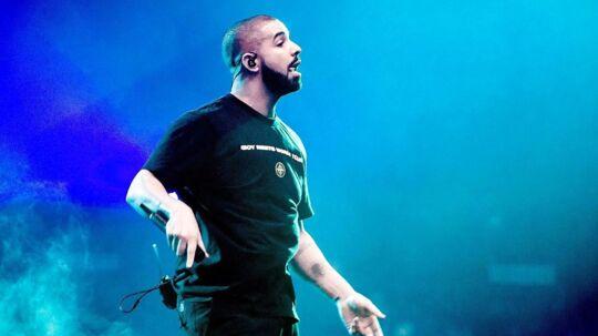 Den canadiske verdensstjerne Drake giveer koncert tirsdag aften i Royal Arena. ARKIVFOTO.