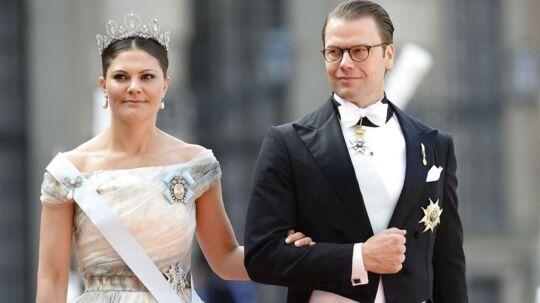 Prins Daniel og kronprinsesse Victoria.