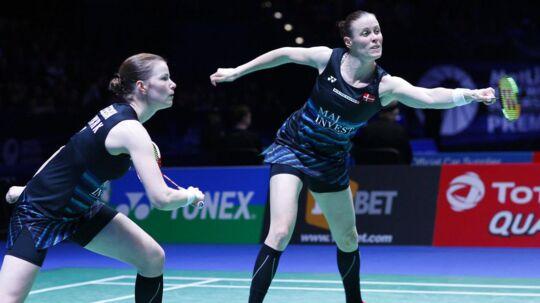 Det blev desværre ikke til en sejr i All England-finalen til den danske damedouble Kamilla Rytter Juhl og Christinna Pedersen.