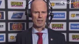 Petter Lasu Nilsson er ophidset i interviewet efter nederlaget.