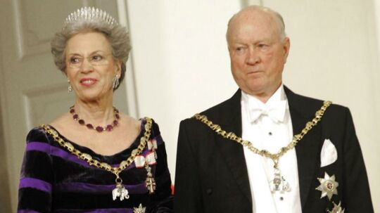 Prins Richard og prinsesse Benedikte af Berleburg. Billedet her er fra den 12. januar 2012, Christiansborg Slot.