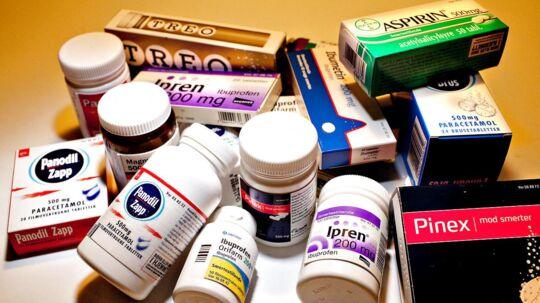 ARKIVFOTO En dansk professor advarer nu mod brugen af Ibuprofen. (Bemærk venligst, at dette billede også afbilder en række produkter som eksempelvis Panodil, Treo og Pinex, der ikke indeholder ibuprofen.)