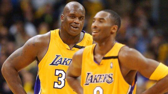 Shaquille O'Neal (tv), da han stadig spillede. Her sammen med Kobe Bryant i LA Lakers