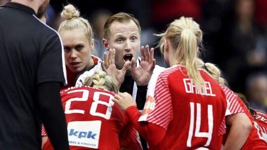 Klavs Bruun Jørgensen er ikke beymret trods massive klø til Danmark ved Golden League. Arkivfoto.