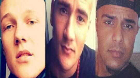 Ofrene ved det tredobbelte mord på Frederiksberg var Phillip Rasmussen, 19, Mike Vinther, 24, og Suhaib Jaffar, 24. Alle tre dræbte hørte en kriminel gruppering fra Vanløse, som lå i konflikt med rockere fra Bandidos.