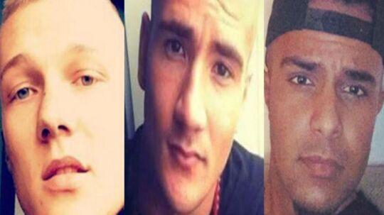 Philip Rasmussen, Mike Vinther og Suhaib Jaffar blev myrdet på Frederiksberg sidste efterår.