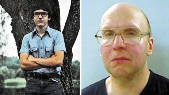 Christopher Knight i 1984 (tv.) og politi-foto fra 2013 (th.)