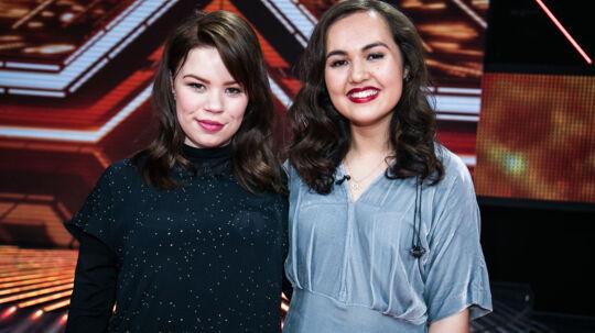 Mia (tv.) og Chili (t.h.) fra 'X Factor'.