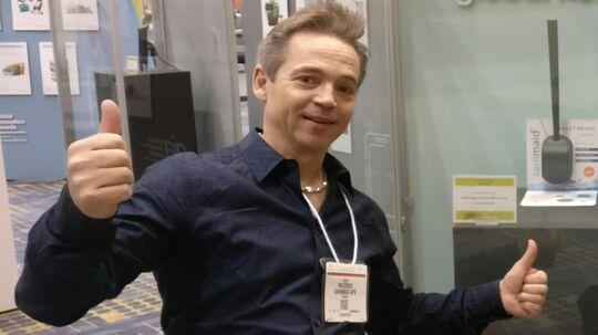 Stig Brammer Knudsen til brancheshowet Home + Housewares Show i Chicago. Foto. Privatfoto