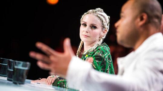 sendxnet X Factor 10, Liveshow 5, 17. marts 2017 i DR Byen. Dommerne - Mette Lindberg, Blachmann og Remee (foto: Martin Sylvest/Scanpix 2017)