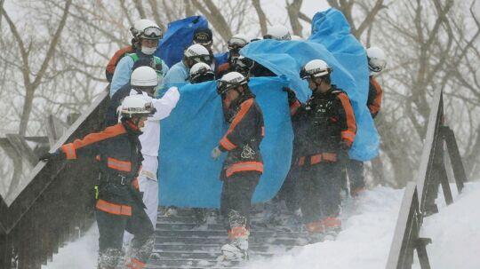 En lavine ramte mandag morgen lokaltid et skisportssted i byen Nasu nord for Tokyo, Japan. Otte personer meldes døde, og flere er fortsat savnet.