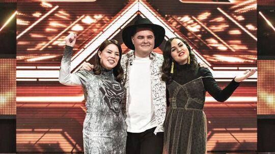 Her er det de 3 finalister Mia, Morten Nørgaard og Chili.