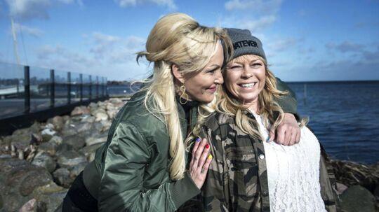 Linse og veninden Didde på Dragør Havn den 21. februar 2017.
