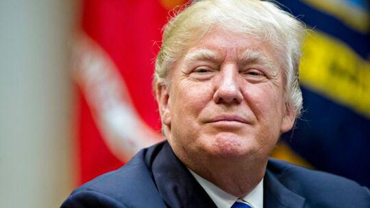 Her ses USAs præsident, Donald Trump