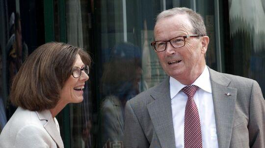 Kjeld Kirk Kristiansen og hans kone, Camilla.