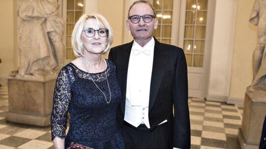 Preben Elkjær var sammen med konen Nicole også inviteret til gallataffel hos dronningen.