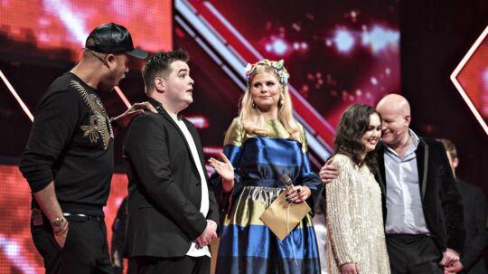 X Factor finale den 31. marts 2017. Her er det Morten Nørgaard idet han bliver kåret som vinder.