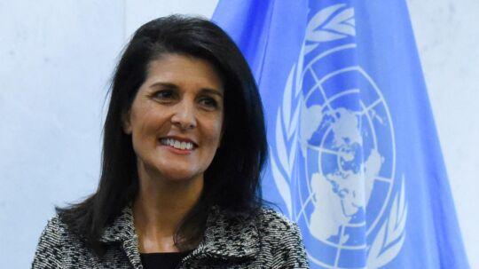 USAs FN ambassadør Nikki HaleyREUTERS/Stephanie Keith/File Photo