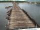 Vitim River-broen (Sibirien)