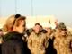 Den Danske statsminister Helle Thorning- Schmidt hilser på de danske soldater under sit besøg i Afghanistan fredag 20. januar 20