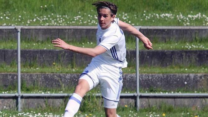 Et af de mest lovende danske fodboldtalenter, eks-FCK'eren Victor Jensen,
