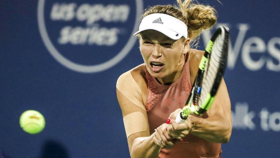 Caroline Wozniacki tabte første sæt i anden runde ved Cincinnati