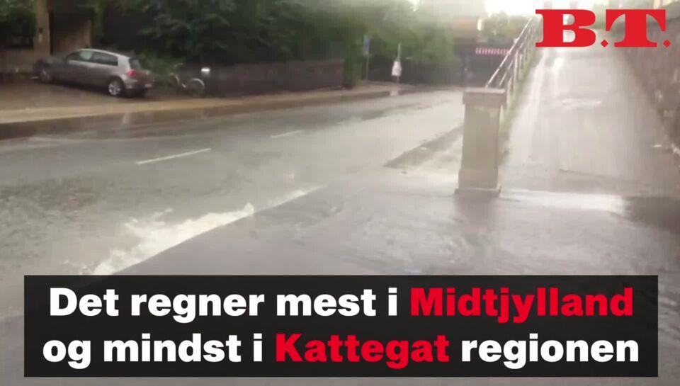 Dmi Varsler Om Kraftig Regn Og Skybrud I Nordjylland Bt Vejret