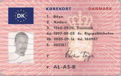 kørekort nr