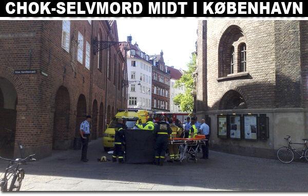 Skoleklasse vidner til selvmord fra Rundetårn | BT Nyheder - www.bt.dk