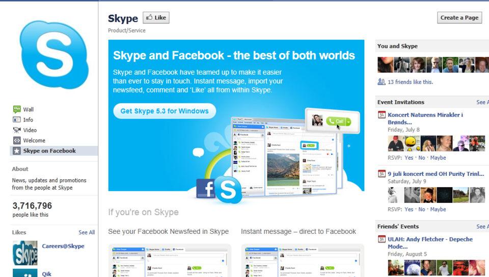 Facebook lancerer Skype-chat | BT Tech - www.bt.dk